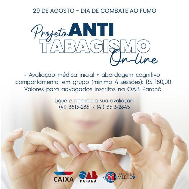Projeto Antitabagismo da CAA-PR oferece reuniões on-line para advogados paranaenses