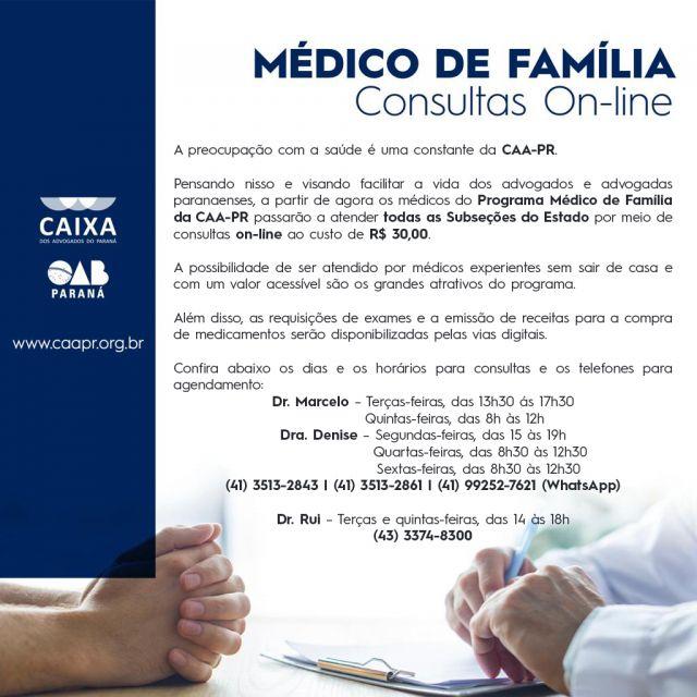 CAA-PR expande projeto Médico de Família para subseções paranaenses