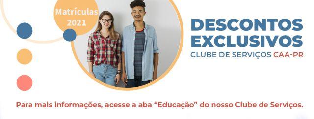 Clube de Serviços da CAA-PR oferece descontos exclusivos para colégios em 2021
