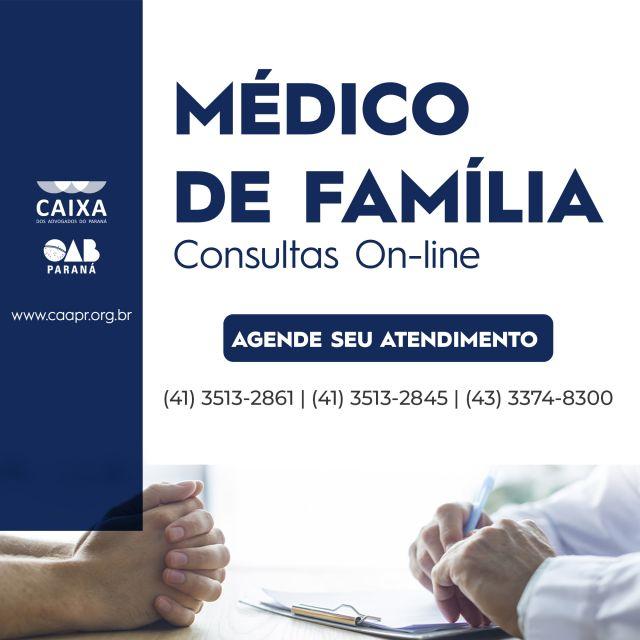 Agende já sua consulta on-line com os médicos de família da CAA-PR