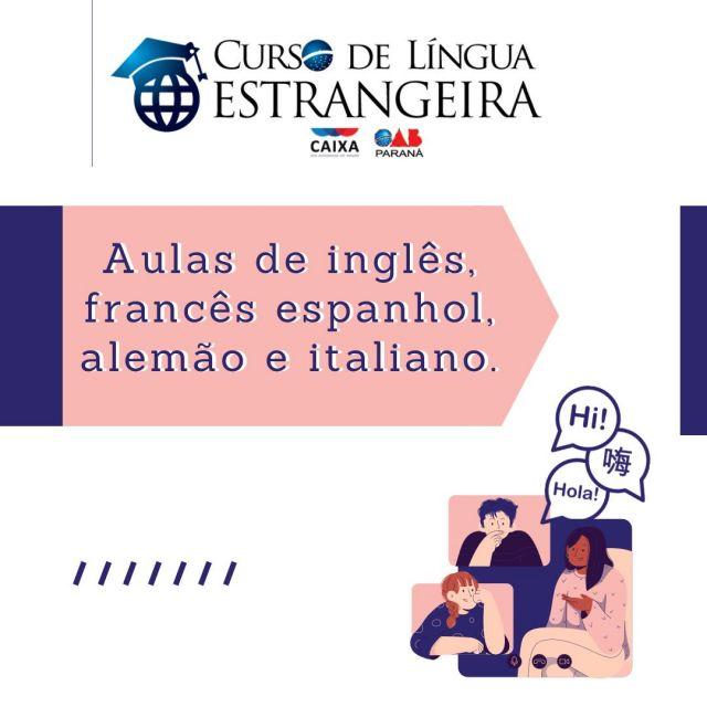 Matrículas abertas para o Curso de Idiomas da CAA-PR