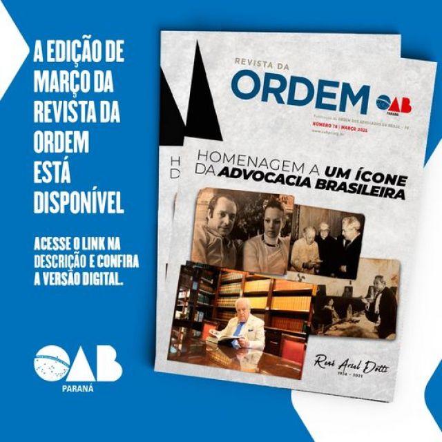 Nova edição da Revista da Ordem homenageia René Ariel Dotti