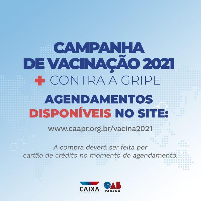 CAA-PR libera acesso para compra de vacinas contra a gripe