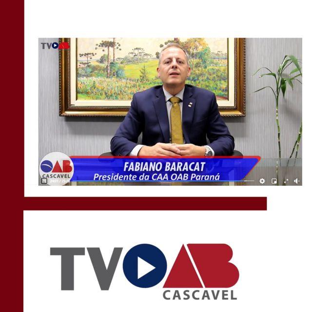 Em entrevista à TV OAB Cascavel, presidente da CAA-PR fala sobre benefícios oferecidos aos advogados